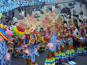From Wikipedia: http://en.wikipedia.org/wiki/File:MassKara_Festival,_Bacolod_City,_Philippines.JPG