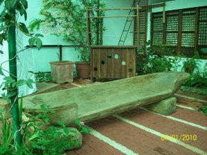 An old banca turned to bench..