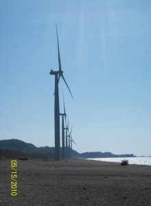The windmills at Bangui bay standing proud and mighty...
