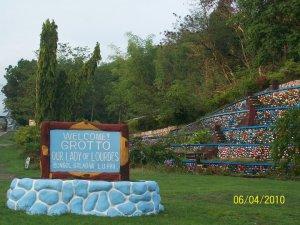 A grotto...