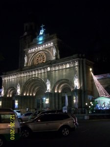 Manila Cathedral at night...