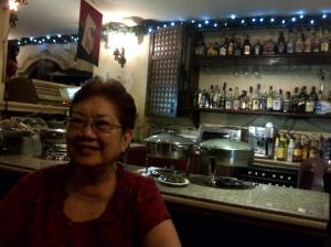 Mama at Cafe Leona..