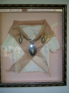 Framed Filipiniana costume..