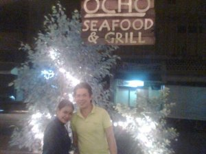 Met a friend and dined in Ocho's...