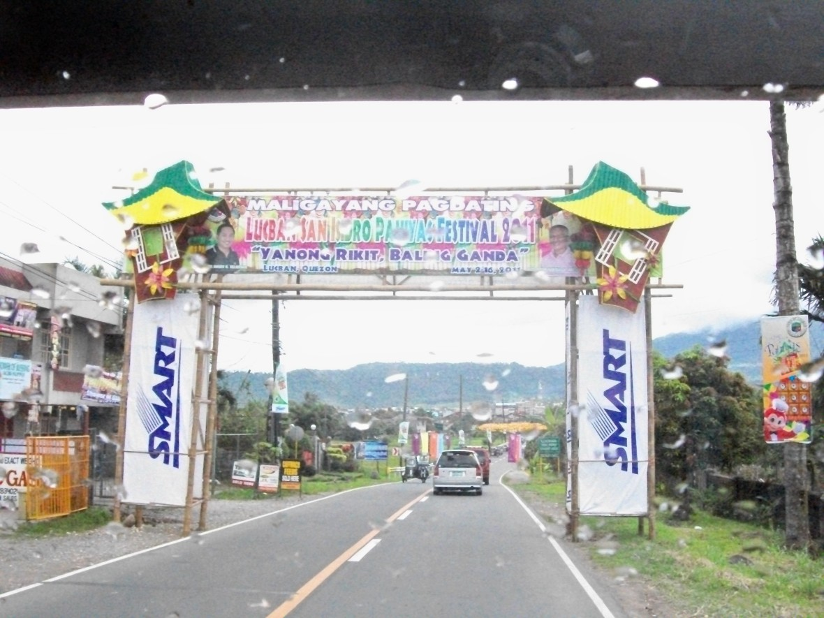 The Welcome arch!
