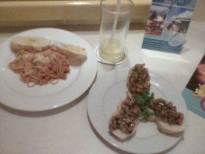 And my food delivered at my doorsteps! pasta and bruschetta!