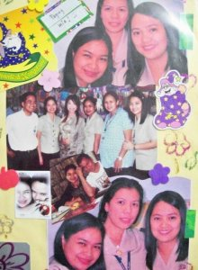 A page from my scrapbook..with colleagues and friends...