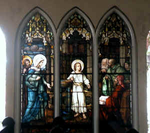 These stained-glass windows are a hundred years old already...