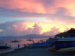 Pink skies..