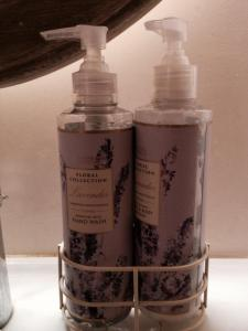 Liquid soap and lotion in my favorite scent - lavender...