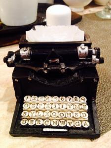 Typewriter...