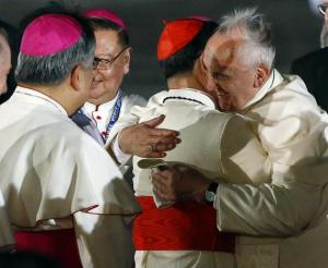 Courtesy of: https://ph.news.yahoo.com/photos/good-friends-pope-francis-and-cardinal-tagle-slideshow/pope-francis-embraces-philippine-cardinal-tagle-upon-arrival-photo-114213490.html
