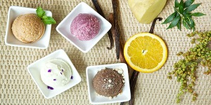 Ic cream scrub from Devarana, Dusit Thani hotel