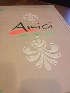 Elegant menu..