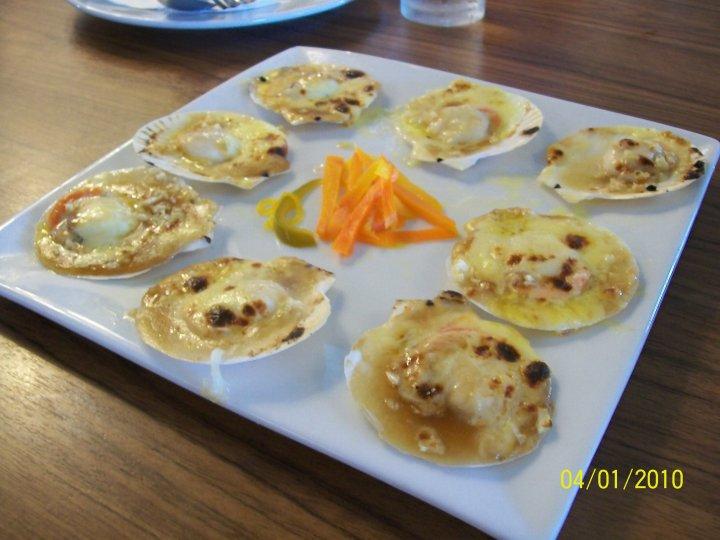 baked scallops