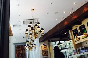 And the chandeliers are impressive..