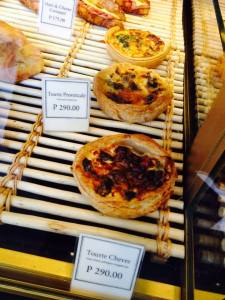 And their quiche..
