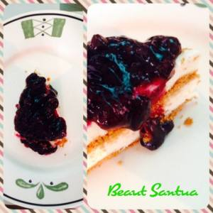 My blueberry cheesecake!!!!