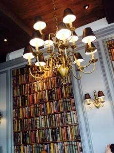 There's a trompe l'oeil of books! =)