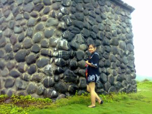 Huge cobbled stones...