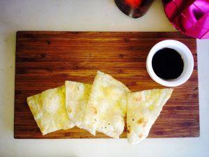Flour tortillas with vinaigrette..