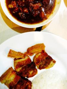 Pares and lechon kawale..