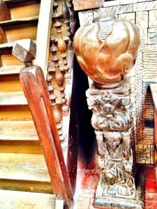 Intricate wood carvings...