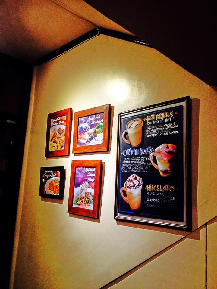 framed coffes and pasta