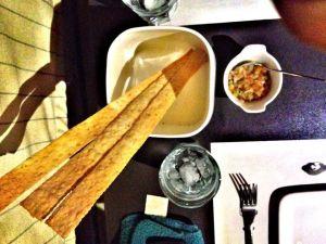 Focacia flat bread sticks for a start..