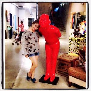 Me with Mr. Red!