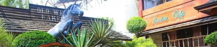 garden cafe facade