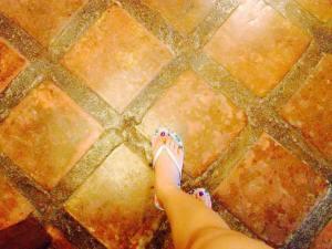 Spanish era..Vigan tiles..