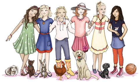 6 girls