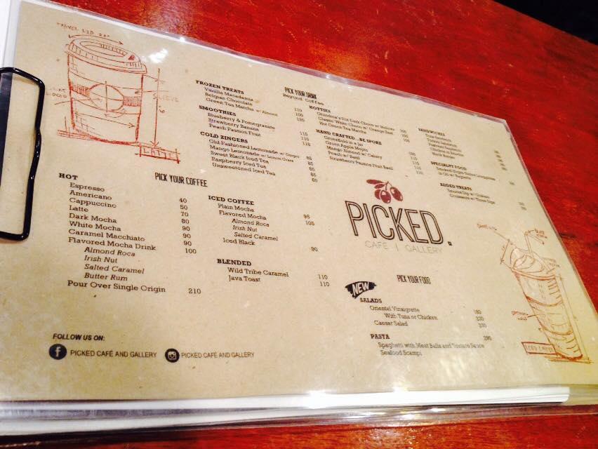 menu board picked