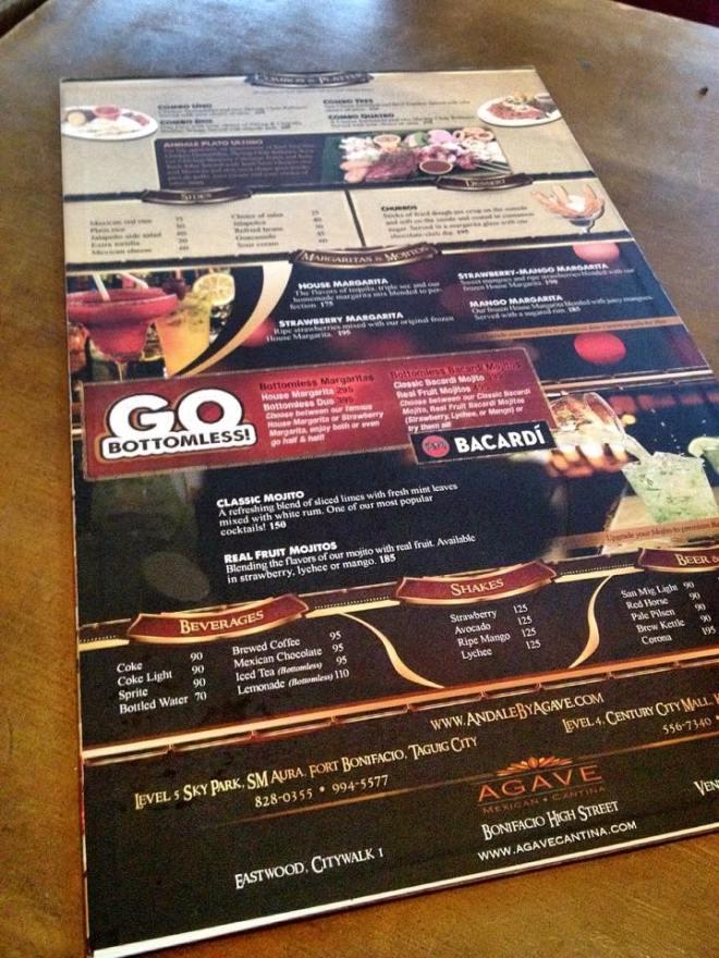 menu andale