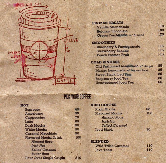 menu picked