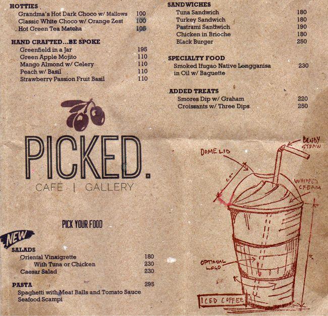 picked menu
