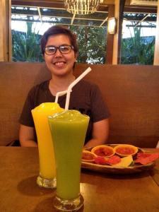 Jen chose mango and I had avocado...