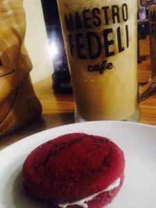 Red velvet cookie..