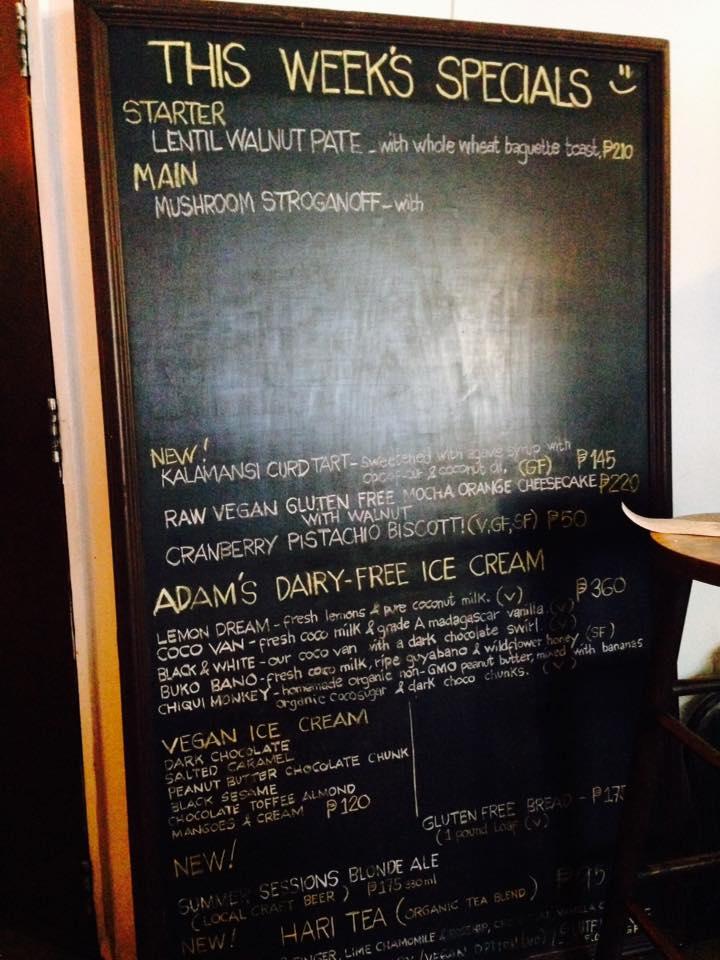 corner menu board