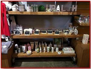 They have soaps, lotions, balms that are organic..